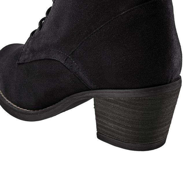 Schnürboot auf Profilsohle Schwarz – modischer und bequemer Schuh für Hallux valgus und empfindliche Füße von LaShoe.de
