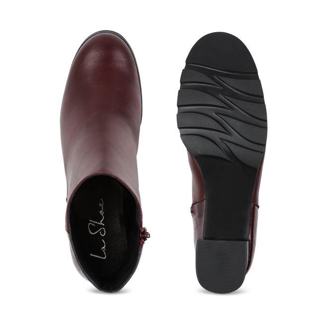 Stiefelette Krokooptik Bordeaux – modischer und bequemer Schuh für Hallux valgus und empfindliche Füße von LaShoe.de