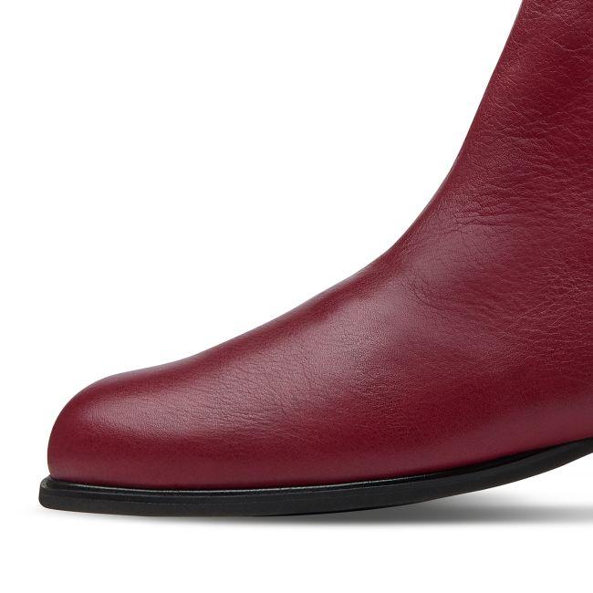 Feminine Stiefelette Bordeaux – modischer und bequemer Schuh für Hallux valgus und empfindliche Füße von LaShoe.de