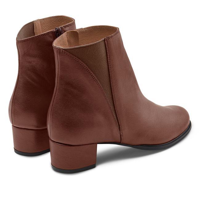 Feminine Stiefelette Braun – modischer und bequemer Schuh für Hallux valgus und empfindliche Füße von LaShoe.de