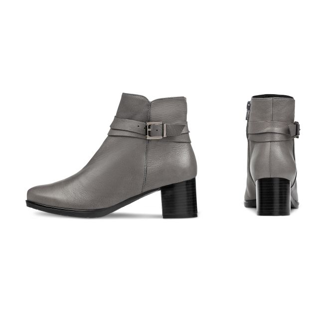 """Stiefelette """"Design deinen Schuh"""" Grau – modischer und bequemer Schuh für Hallux valgus und empfindliche Füße von LaShoe.de"""