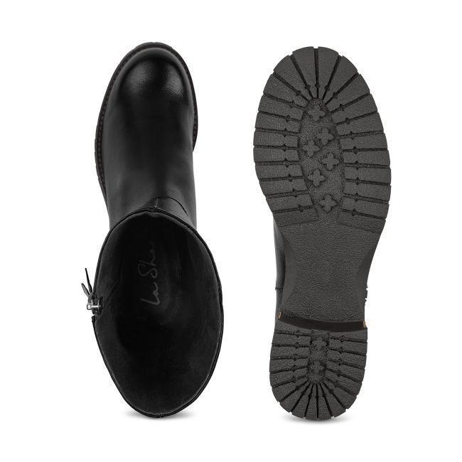 Kurzstiefel Schwarz  – modischer und bequemer Schuh für Hallux valgus und empfindliche Füße von LaShoe.de