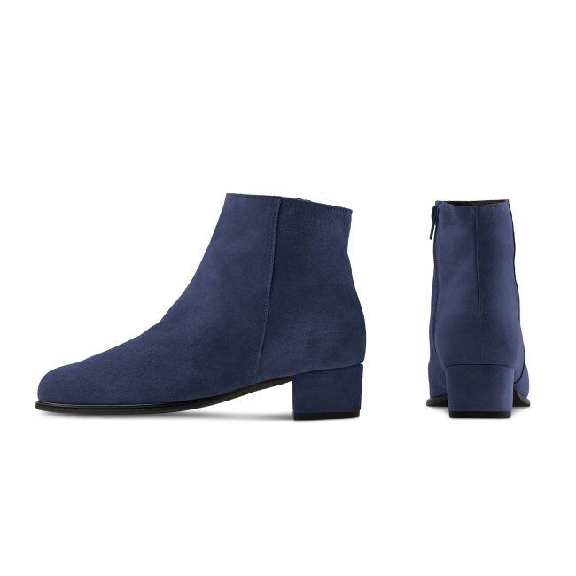 Stiefelette auf Blockabsatz Marine – modischer und bequemer Schuh für Hallux valgus und empfindliche Füße von LaShoe.de