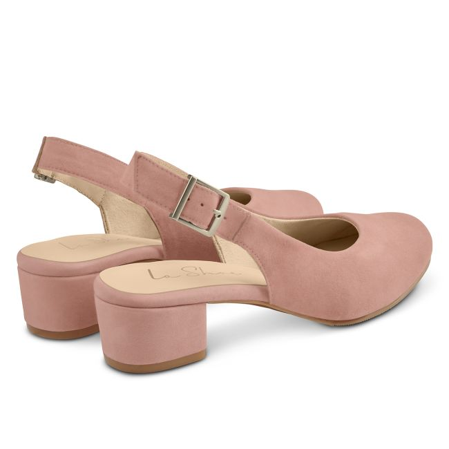 Sling Pumps Rosé – modischer und bequemer Schuh für Hallux valgus und empfindliche Füße von LaShoe.de