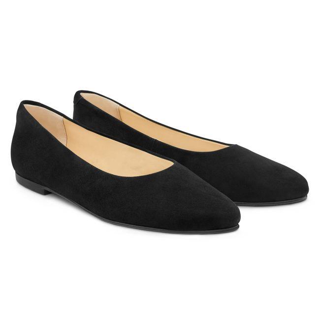 Ballerina Spitz Schwarz – modischer und bequemer Schuh für Hallux valgus und empfindliche Füße von LaShoe.de