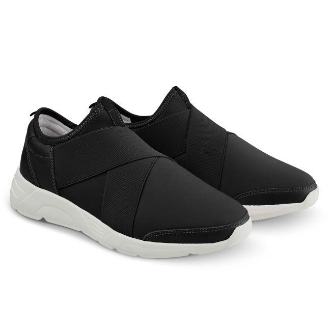 Sock-Sneaker X Schwarz – modischer und bequemer Schuh für Hallux valgus und empfindliche Füße von LaShoe.de