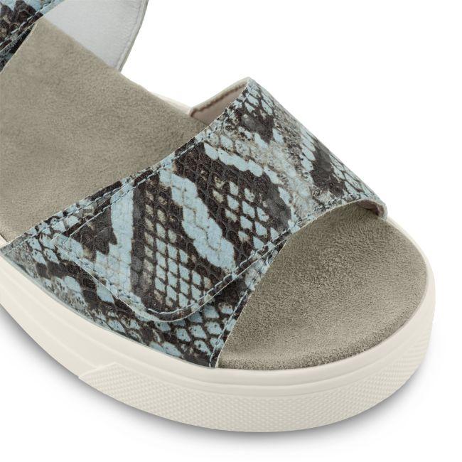 Sport Sandale Snake Blau – modischer und bequemer Schuh für Hallux valgus und empfindliche Füße von LaShoe.de