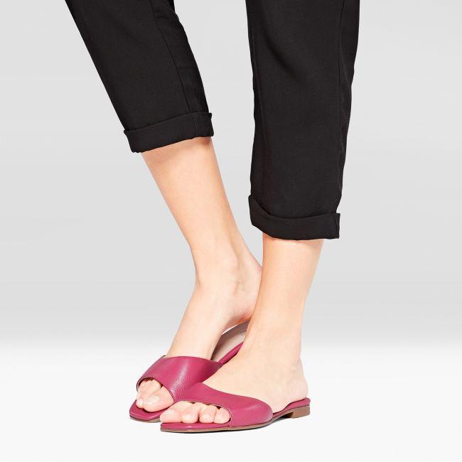 Mule Squaretoe Pink – modischer und bequemer Schuh für Hallux valgus und empfindliche Füße von LaShoe.de