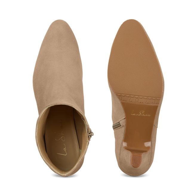 Stiefelette Wave Nubuk Beige – modischer und bequemer Schuh für Hallux valgus und empfindliche Füße von LaShoe.de