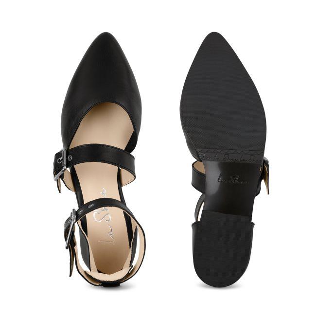 Ballerina mit Schnallen Schwarz – modischer und bequemer Schuh für Hallux valgus und empfindliche Füße von LaShoe.de