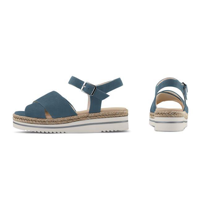 Sandale Summertime Hellblau – modischer und bequemer Schuh für Hallux valgus und empfindliche Füße von LaShoe.de