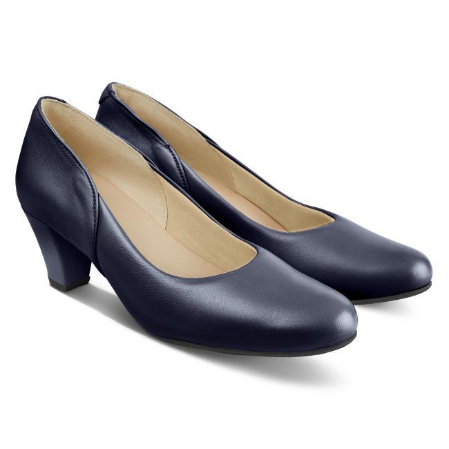 Klassischer Pumps mit Softfußbett Marine – modischer und bequemer Schuh für Hallux valgus und empfindliche Füße von LaShoe.de