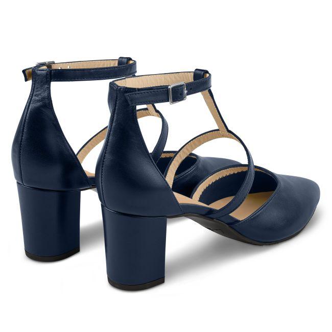 Pumps T-Strap Navy – modischer und bequemer Schuh für Hallux valgus und empfindliche Füße von LaShoe.de