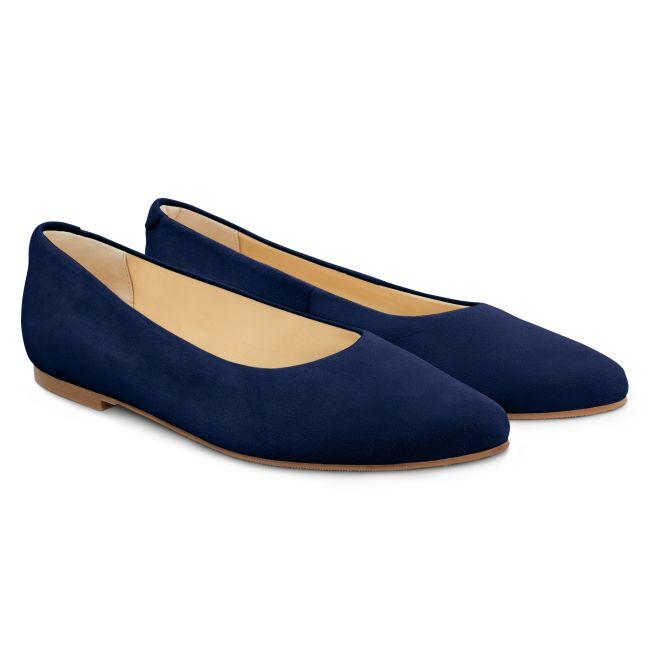 Ballerina Spitz Marine – modischer und bequemer Schuh für Hallux valgus und empfindliche Füße von LaShoe.de