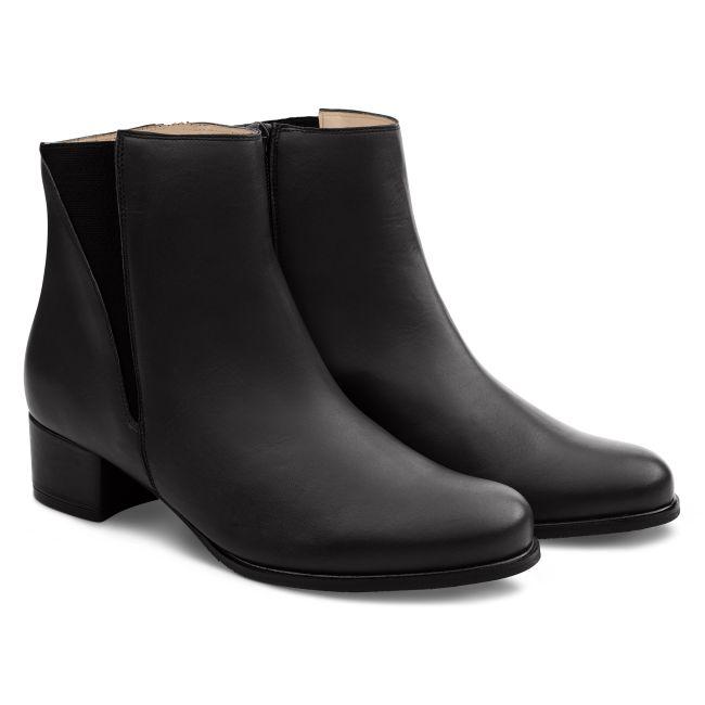 Feminine Stiefelette Schwarz – modischer und bequemer Schuh für Hallux valgus und empfindliche Füße von LaShoe.de