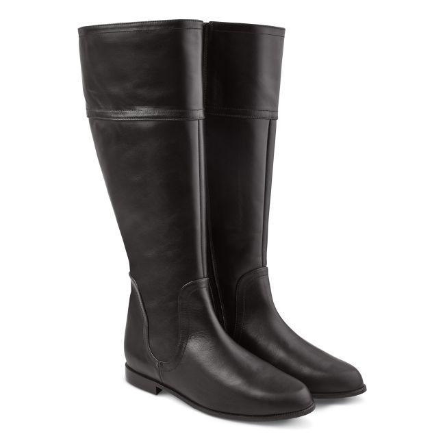 Reiterstiefel weiter Schaft Schwarz – modischer und bequemer Schuh für Hallux valgus und empfindliche Füße von LaShoe.de