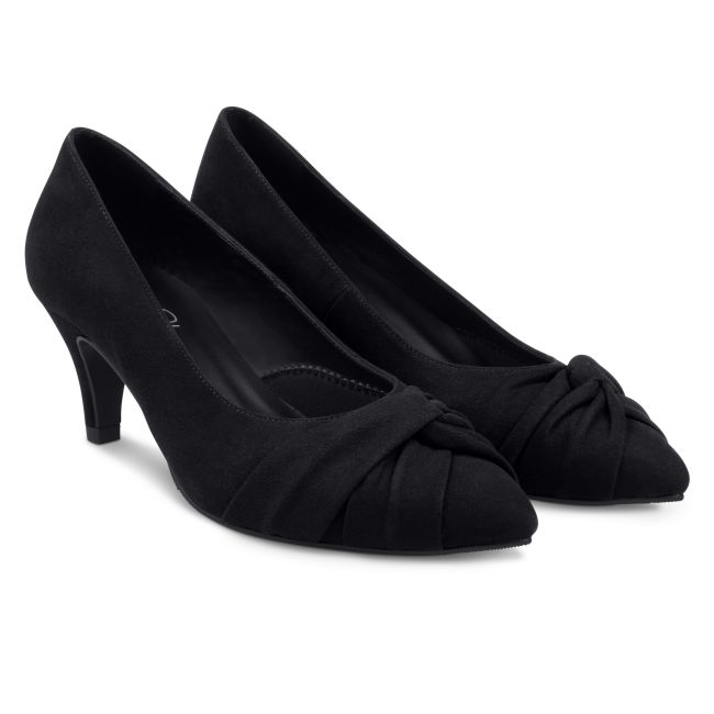 Pumps mit Knotendetail Schwarz – modischer und bequemer Schuh für Hallux valgus und empfindliche Füße von LaShoe.de