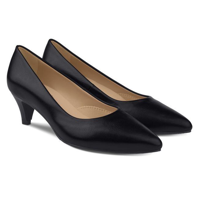 Pumps mit Kitten Heel Schwarz – modischer und bequemer Schuh für Hallux valgus und empfindliche Füße von LaShoe.de