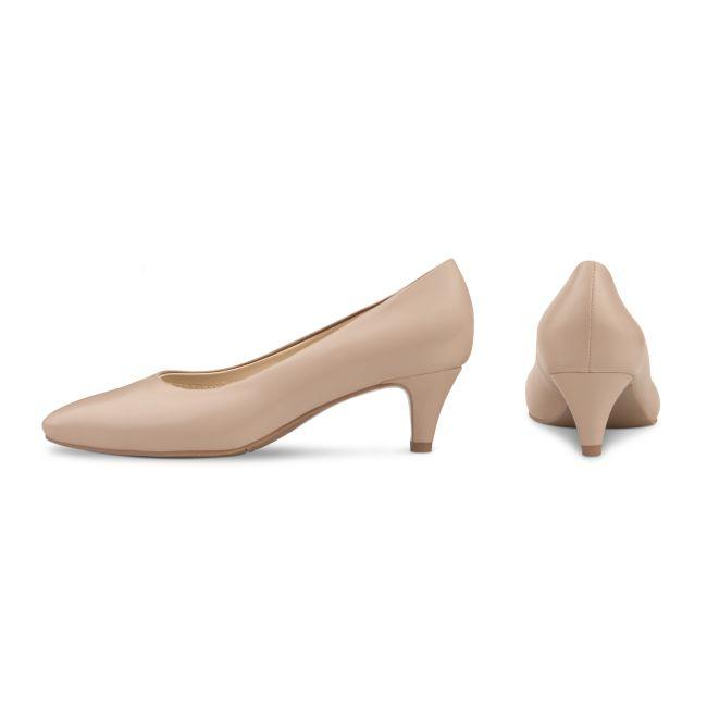 Pumps mit Kitten Heel Nude – modischer und bequemer Schuh für Hallux valgus und empfindliche Füße von LaShoe.de