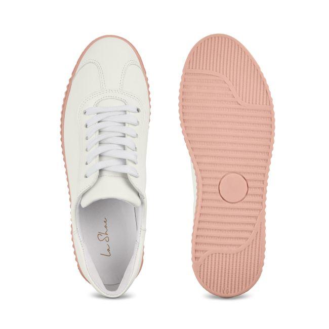 Sneaker Retro mit Kontrastsohle Weiß – modischer und bequemer Schuh für Hallux valgus und empfindliche Füße von LaShoe.de
